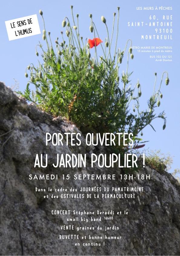 15 septembre Porte ouverte jardin pouplier